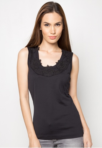 Dolce & Gabbana black Lace Detail Sleeveless Top DA093AA56TOPPH_1