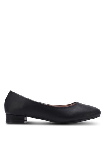 Spiffy black Comfort Series Block Heel Pumps SP352SH0S6EFMY_1