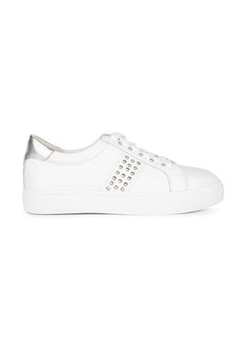 MAUD FRIZON white Calf Leather Sneaker With Cone Studs Detail 39E9ESH0FC8314GS_1