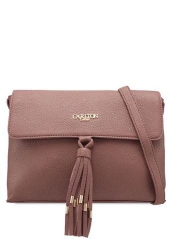 Carlton London brown Crossbody Bag With Tassel 37335AC246C419GS_1