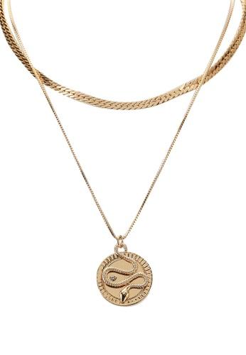 ALDO gold Chiamma Snake Necklaces CCF26AC64F7CCCGS_1
