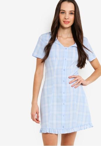3f523159859f Buy Something Borrowed Button Down Ruffles Hem Dress Online on ZALORA  Singapore