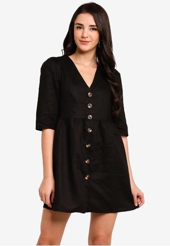 Glamorous black Texture Mini Dress C4AA8AA682C90EGS_1