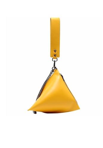 Lara yellow Women's Triangle Sling Bag A6AB1ACD13D283GS_1