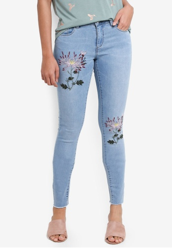 ONLY blue Karmen Embroidered Jeans D8438AA6486D1BGS_1