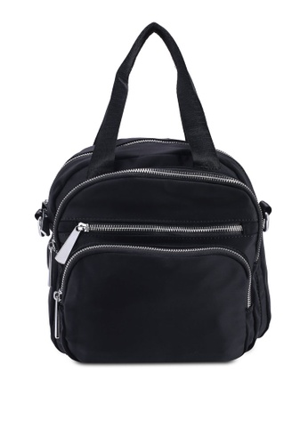 NUVEAU black Lightweight Nylon Convertible Top Handle Bag BDCA1AC3548797GS 1 2619df6991470