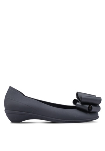 Twenty Eight Shoes black Simple Jelly Bow Ballerinas 1287ASH0B988D7GS_1