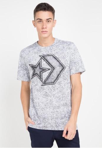 Converse white and multi Distressed Star Chevron T-Shirt 6303DAA0F9601DGS_1