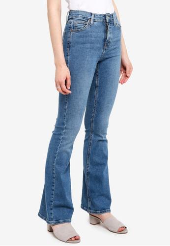 971c352d792d Buy TOPSHOP Moto Mid Blue Flare Jamie Jeans Online on ZALORA Singapore