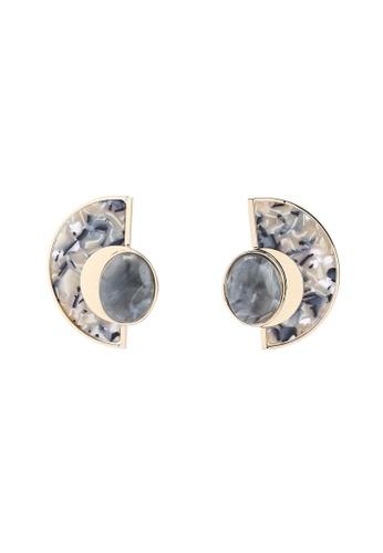 Mango grey Luisa Stud Earrings B0C72AC87D47D4GS_1