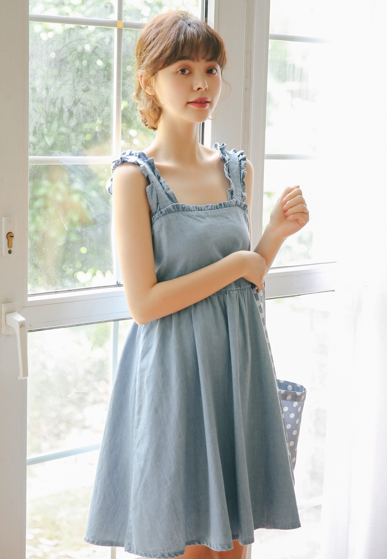 Blue Slip Light Dress Shopsfashion in Blue wxZ7q7AX0
