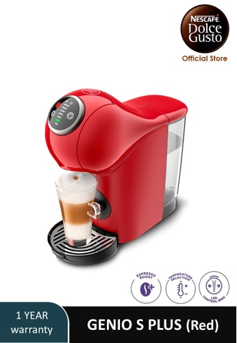 NESCAFE Dolce Gusto red GENIO S PLUS Automatic Coffee Machine (Red) 574CCESFFAB70EGS_1