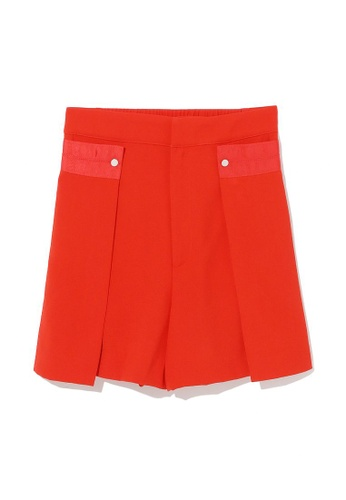 tout à coup red Layered tailored shorts 2EC91AAAE498FEGS_1