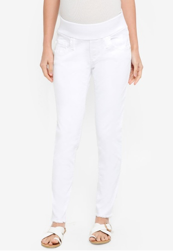 Pietro Brunelli Milano white Under Belly Jegging Maternity Jeans 5D173AA73A3527GS_1