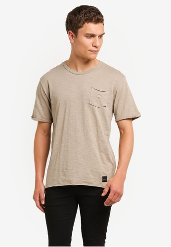 Only & Sons beige ONLY ONE Anthony T-Shirt ON662AA0RMC1MY_1