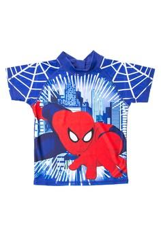 Spiderman Boys Rashguard Short Sleeves