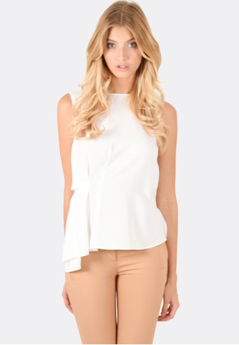 FORCAST white Bailey Sleeveless Top FO347AA0FK9YSG_1