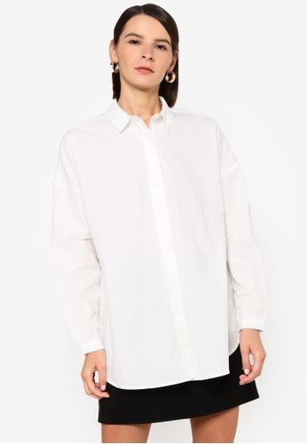Vero Moda white Naja Long Shirt DB505AAA3E9B70GS_1