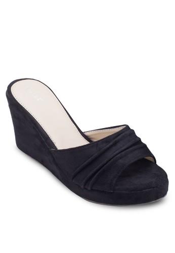 露趾esprit tw楔型跟涼鞋, 女鞋, 楔形涼鞋