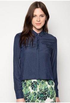 Long Sleeved Button Down Top
