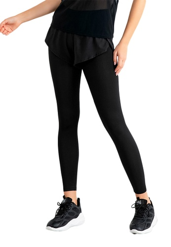 B-Code black ZUU3025-Lady Quick Drying Running Fitness Yoga Leggings-Black BAEEAAA63049E8GS_1