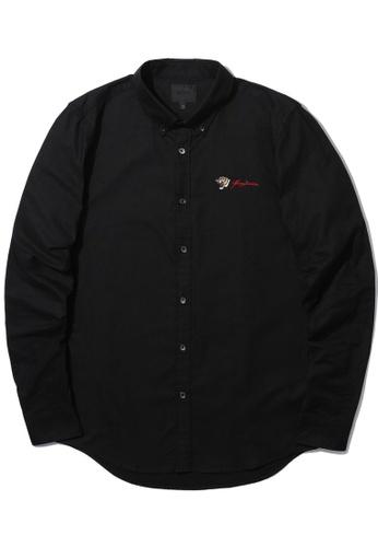 MUSIUM DIV black Emblem embroidered shirt CF4E2AA7DAA710GS_1