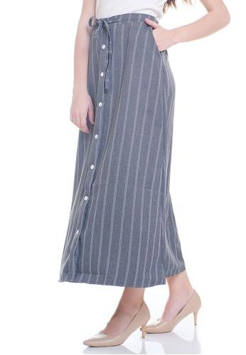 JOYFULIE grey Mykha Stripes Skirt Grey 1D4F9AAB335D17GS_1