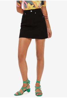 ef690ff9ca TOPSHOP black High Waisted Denim Skirt 1DA7BAA2C722BCGS 1