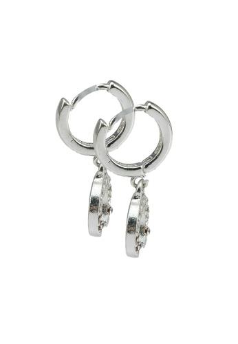 Rubi silver Ear Party Luxe Huggie Hoop Earrings 7D5E4ACBBE39E7GS_1