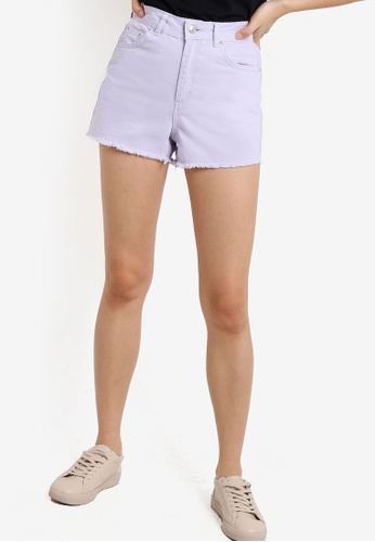 TOPSHOP purple MOTO Lilac Mom Shorts TO412AA74HOJMY_1