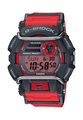CASIO red Casio G-Shock Black and Red Resin Watch 467C7ACA8E0092GS_1