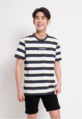 Hi Style navy Graphic Short Sleeve T-Shirt 18927AAA1E76CBGS_1