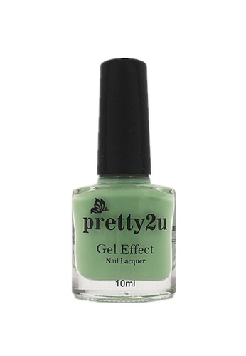Pretty2u green Gel Effect Nail Lacquer 5 PR716BE21WQGMY_1