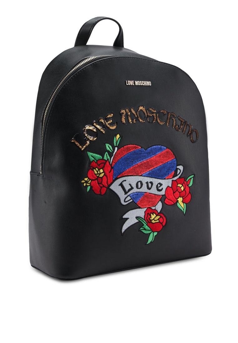 64fbca7775f ... Black Borsa Black Love Friday Nappa Backpack Moschino nFOqwPXF ...