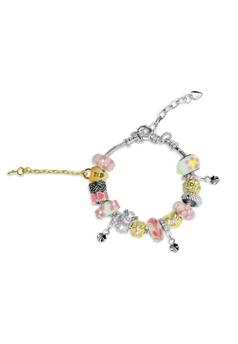 Her Jewellery pink and silver Her Jewellery Roman Charm Bracelet (Pink) 4836FACDE9A782GS_1