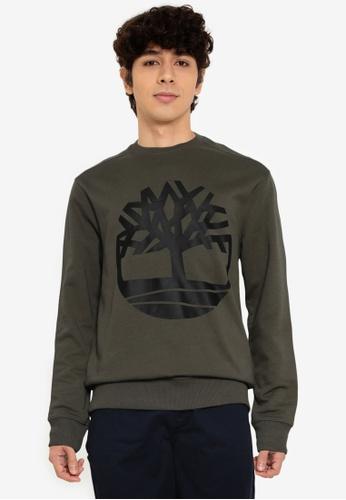 Timberland green Core Tree Logo Sweatshirt 4F096AABEA30E6GS_1