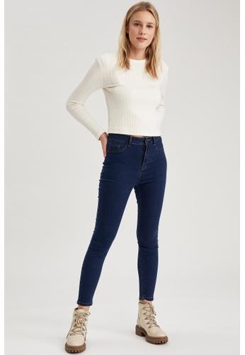 DeFacto blue High Waist Super Skinny Jeans A2EC3AAC3706A4GS_1