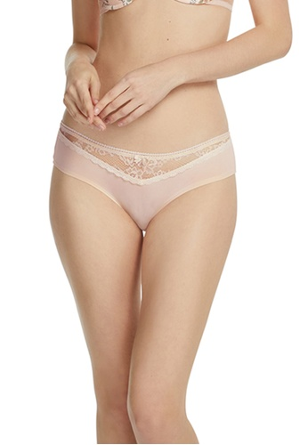 6IXTY8IGHT pink Lace Front Micro Cheeky Panty PT08112 50E61US9C0C958GS_1