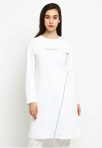 Osella white Osella Baju Perempuan Dress Lengan Panjang White F0A1FAA1DB78B0GS_1