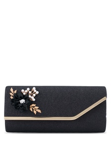 608af7ed1fb Flower   Pearl Embellishment Dinner Clutch UN821AC0SRU4MY 1
