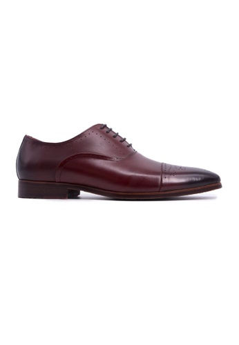 Rad Russel brown Rad Russel Laceup Oxford with Toe Cap - Burgundy 0DAF6SHEAEBE06GS_1