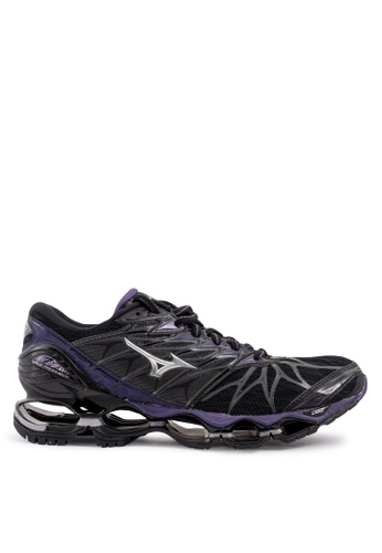Mizuno black and purple Wave Prophecy 7 Running Shoes E55AESHC93FB16GS_1