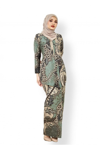 ROSSA COLLECTIONS multi Swastika Kebaya in Sage Green for Lady 448F9AA652199DGS_1