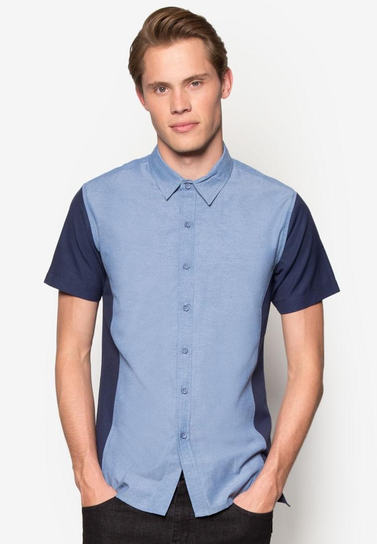 Side Panel Oxford Short Sleeve Shirt