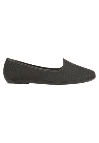 Beira Rio black Solid Color Pointed Weaved Flats MO996SH08EVFHK_1