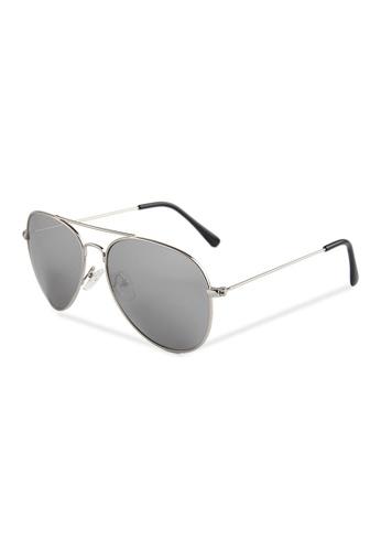 Quattrocento Eyewear Quattrocento Eyewear Italian Sunglasses with Silver Lenses Model Gentile 1C04DGL64602D2GS_1