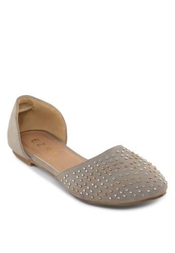 鉚釘尖頭側空平esprit 台灣底鞋, 女鞋, 鞋