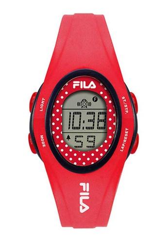 FILA Watches red Fila Digital Red Silicone Watch 97AE6AC8123971GS_1