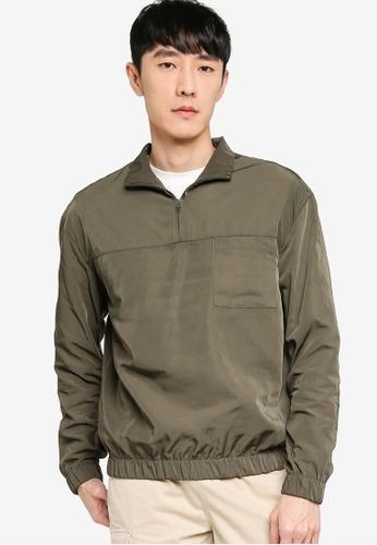 ZALORA BASICS green Utility Sweatshirt 536D3AAD6ECD4FGS_1
