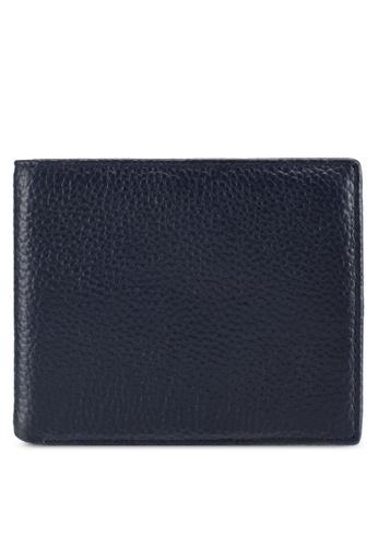 ZALORA navy Pebble Leather Bifold Wallet 2113FZZ357E48AGS_1